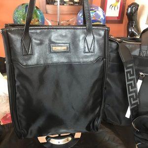 Versace Parfume Lg Black Tote Bag! NWOT!